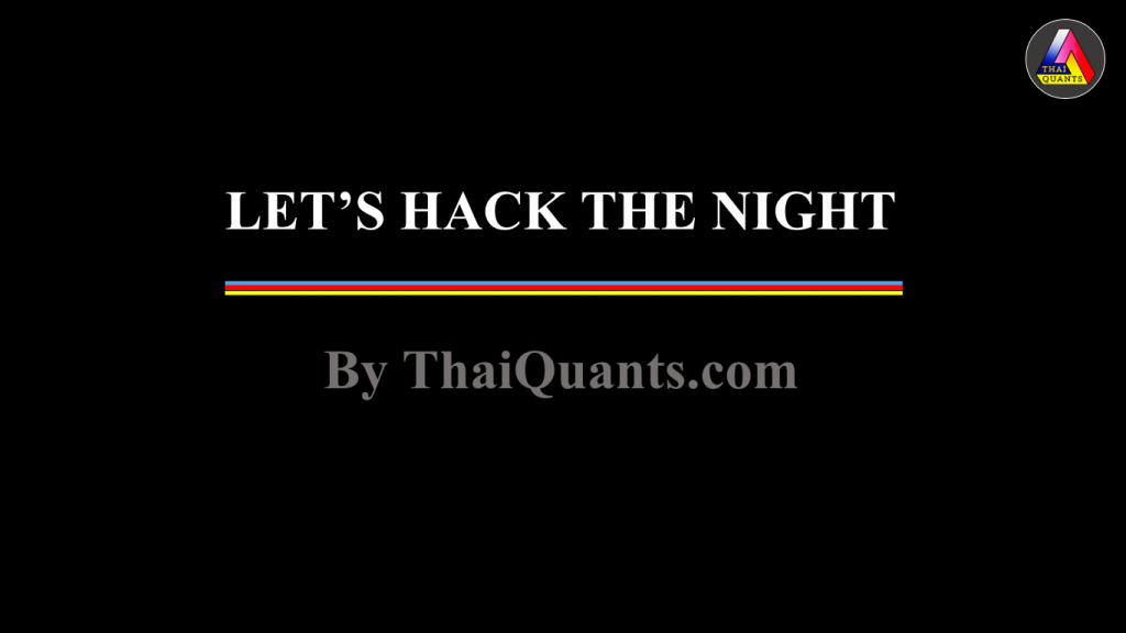 Introduction to AmiBroker สอนการใช้งาน AmiBroker จาก Lets hack the night by ThaiQuants